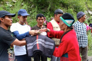 Delivering aid with HelpingHands Nepal